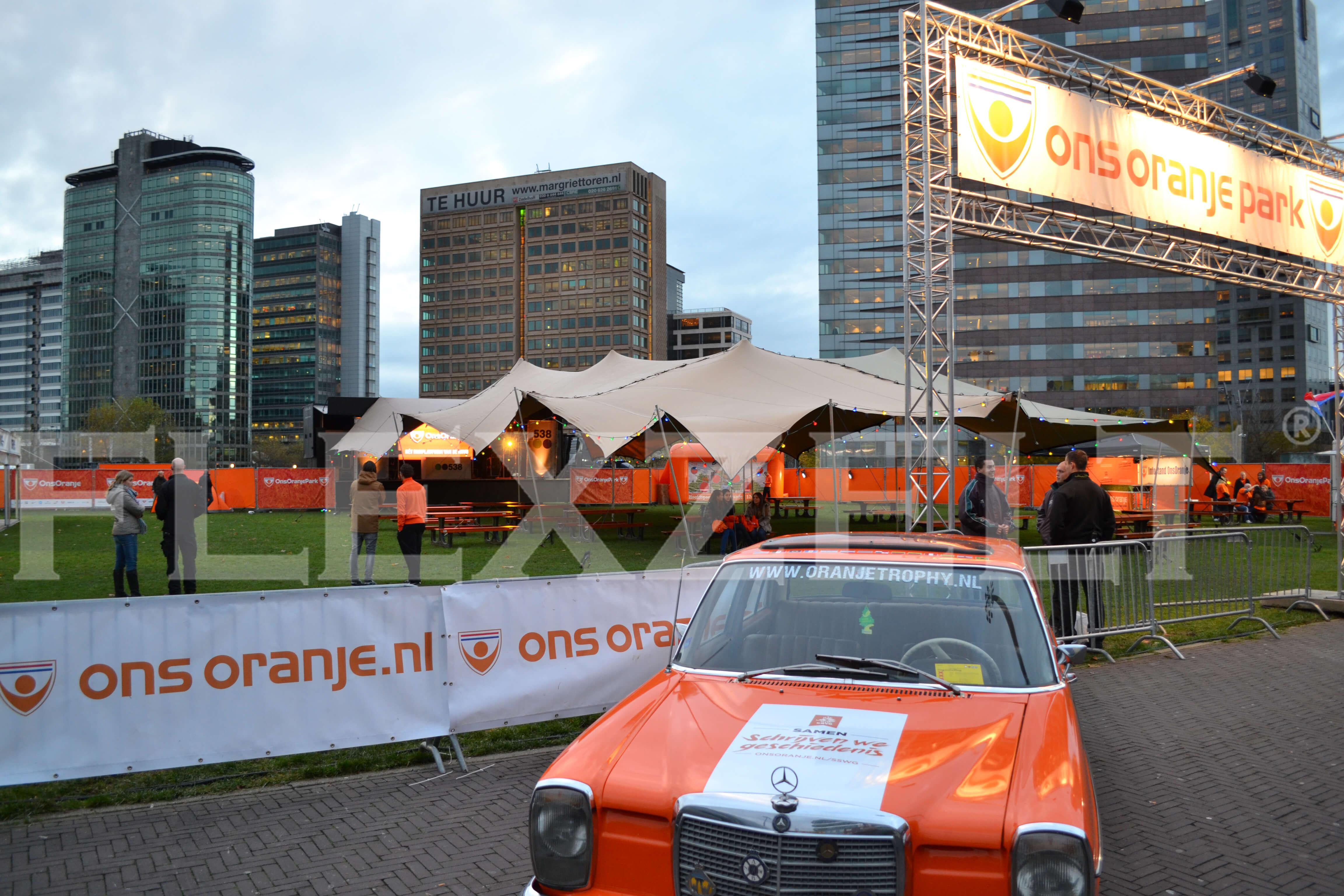 Flexzelt® - Flextent® - Stretchtent - Ons Oranje Park