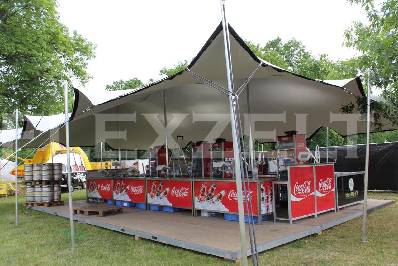 Flexzelt - Flextent - Festival toepassing - Food Event