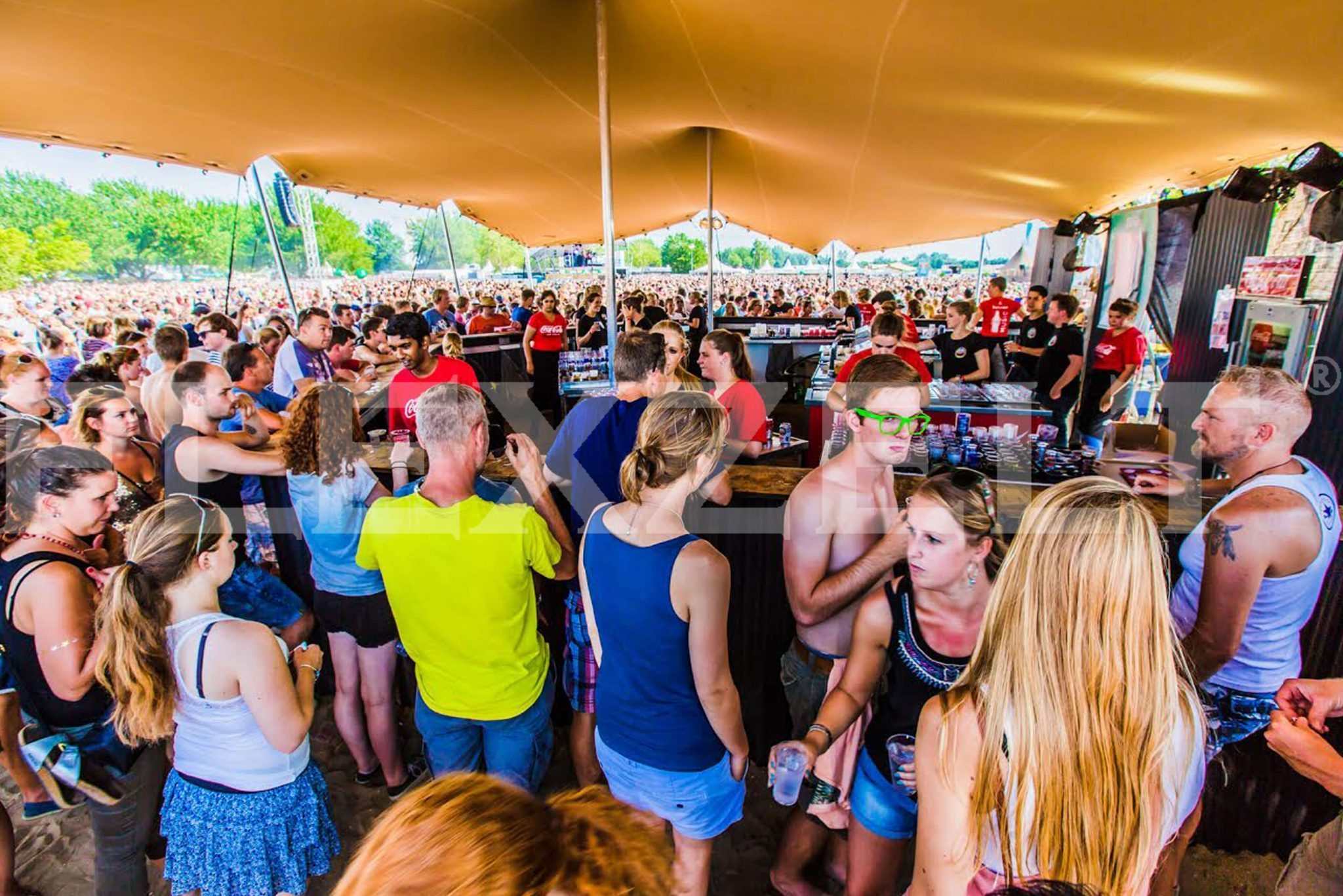 Flexzelt - Flextent - Toepassing festival