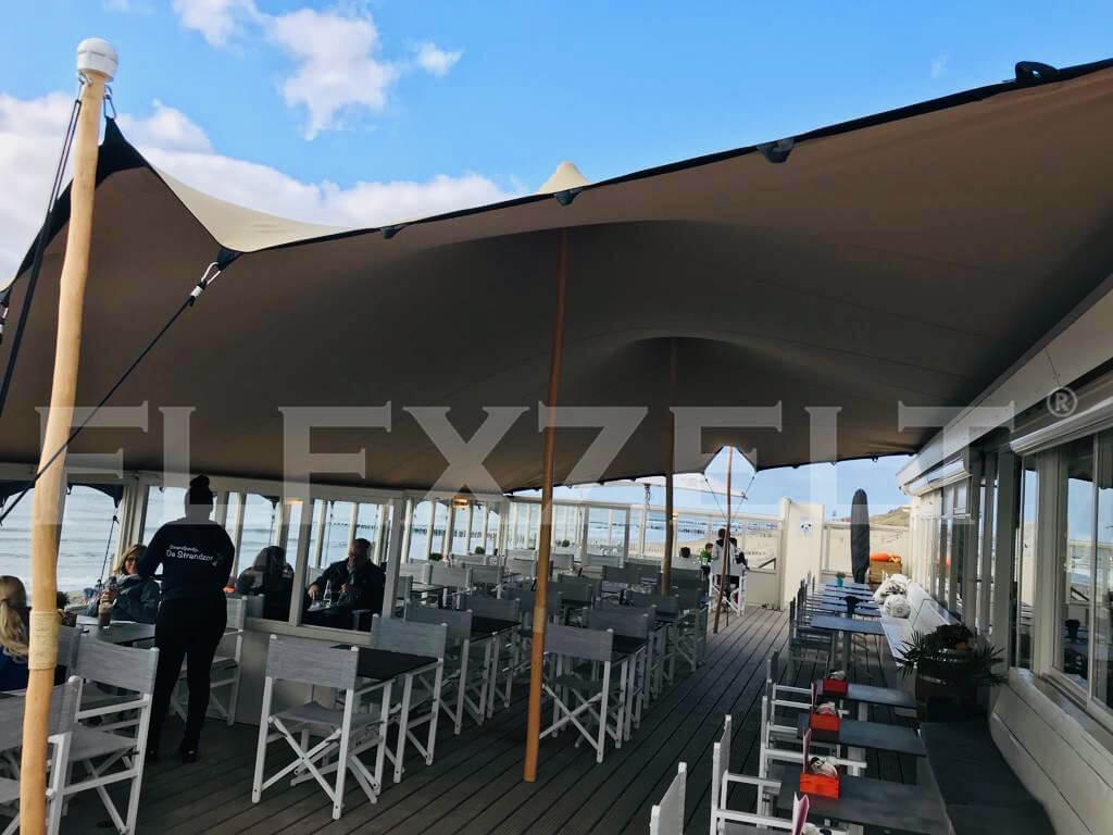 Flexzelt-Flextent -Strandpaviljoens-Terrasoverkapping